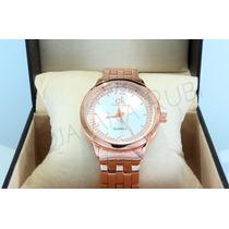 Relógio Feminino Dourado Rosê Ck