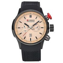 Relógio Curren Original 8175 Esportivo Salmão/preto Barato