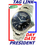 Tag Heuer Link Cal 5 Auto Aço Day Date President Wjf2010
