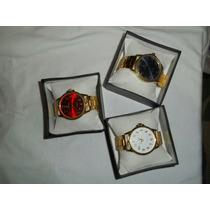 Kit Com 10 Relógios Dourado E Prata Femenino+caixas Atacado