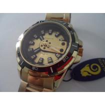 Relógio Atlantis Serie Ouro G-shock Prova Dagua Pulseira Aço