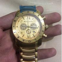 Relógio Bvlgari Iron Man Dourado