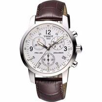 Relógio Tissot Prc200 Couro Marrom Original Frete Grátis