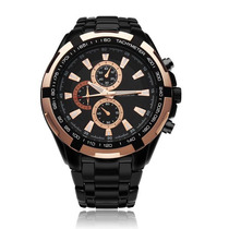 Relógio Curren Quartz Luxo Em Aco Original Novo