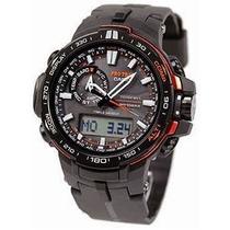 Relógio Casio Protrek Prw6000y 1d Multiband Solar F Carbono