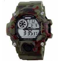 Relógio Militar Camuflado Skmei S-shock Digital Prova D