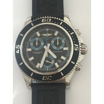 Relógio Breiting 1884 Chronometre Borracha Sedex Grátis
