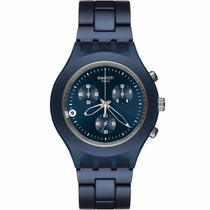 Relógio Swatch Full Blooded Smoky Blue Svcn4004ag