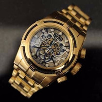 Relógio Bolt Zeus Dourado Detalhes Preto Invicta