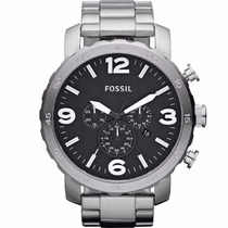 Relógio Fossil Fjr1353/z Prata Pulseira Aço Cronógrafo Nfe
