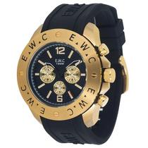 Relógio Ewc Extra Grande Wr 10 Atm 2 Anos Garantia