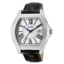 A_line Adore Preto Genuine Dial Leather Silver-tone