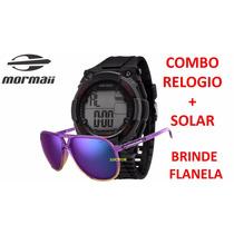 Kit Mormaii Relogio + Oculos De Sol Mo150c/44 + Flanela