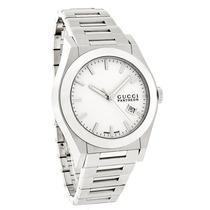 Relógio Masc. Gucci Pantheon , Visor Branco C/data Ya115210