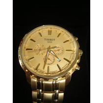 Relógio Tissot Dourado + Garantia + Sedex Grátis