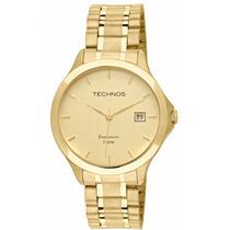Relógio Masculino Technos Dourado Aço Executive 1s13bw/4x