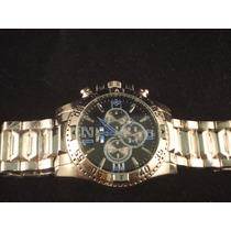 Relógio Masculino Estilo Invicta - Pulseira Em Aço Prateado