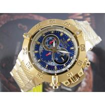 Relógio Invicta Subaqua 5404 Cronografo Suiço Plaque Ouro 18