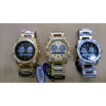 Relógio Original Atlantis Ana Digia3228 Aço Dourado Ou Prata