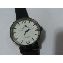 Relógio Masculino Tommy Preto Pulseira Borracha Novo