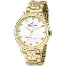 Relógio Champion Feminino Passion Dourado Cn29874h Novo