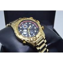 Relógio Masculino Dourado Atlantis Original Esportivo