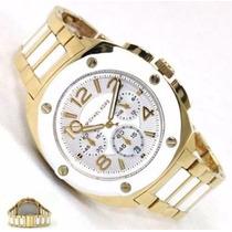 Relógio Michael Kors Tribeca Branco Dourado Mk5731 Original