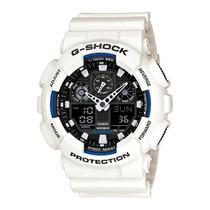 Relógio Masculino Casio G-shock Ga-100b-7adr Branco 50mm