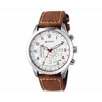 Relógio Curren Masculino Pulseira De Couro Original