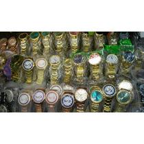 Kit Relógio Pulso Feminino Dourado Revenda Lote 10 Atacado