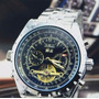 Relógio Automatico Tourbillon Pulseira Em Aço Jaragar