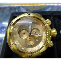 Relogio Invicta Dourado C/ Caixa E Manual + Garantia 1 Ano