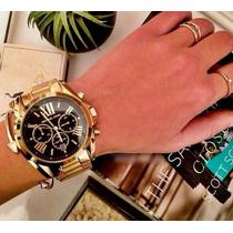 Relógio Michael Kors Dourado Fundo Preto