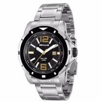 Relógio Seculus 23498g0svna1 Prateado 5atm 2 Anos Garantia