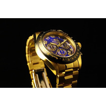 Relógio Masc Invicta 10704 Speedway 18k Gold Novo Original
