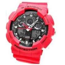 Relógio Vermelho Casio Esportivo Digital Analógico