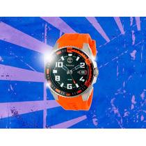 Relógio Timberland Fs Mergulho Masculino Pulso Laranja