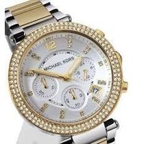 Relógio Michael Kors Mk5626 Prata/dourado Original Completo