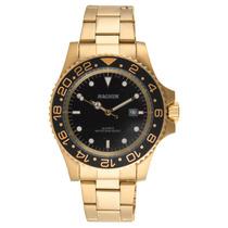 Relógio Magnum Dourado 2 Anos De Garantia Original