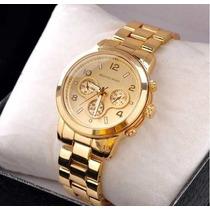 Relógio De Pulso Feminino Michael Kors Eleganc Dourado