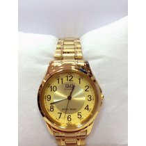 Relógio Feminina Original Qq Dourado Pronta Entrega Grátis