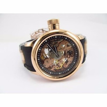 Relógio Invicta Russian Diver 1845 Plaquê Ouro 18k Rosê