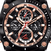 Bulova Precisionist Black Gold Edition Pronta Entrega 96b175
