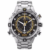 Timex Iq Tide Temperature Compass T2n738pl/ti Frete Gratis