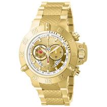 Relógio Invicta Subaqua Noma 3 Iii 5403 Plaque Ouro 50mm Gra