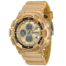 Relógio Speedo 65075g0evnp2 Pulso Dourado Ouro Ana-digi