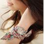 Relógio Feminino Pulseira Em Tecido Florido - Frete Grátis