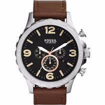 Relógio Fossil Pulseira Couro Cx Manual 2 Anos Garantia
