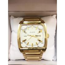 Relógio Original Atlantis Dourado Luxo Produto Original