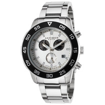 Akribos Xxiv Dos Homens Chronograph Stainless Steel Silver-t